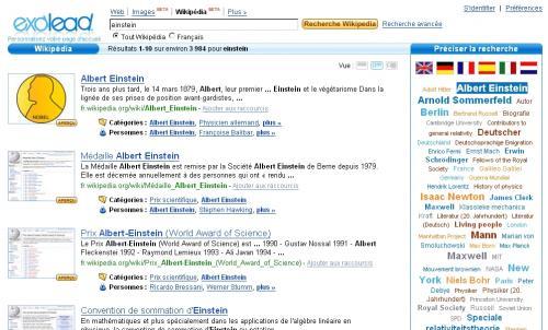 exalead wikipedia