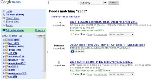 google reader rss count