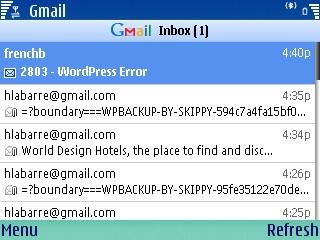 gmail symbian