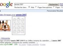 année 2007 google