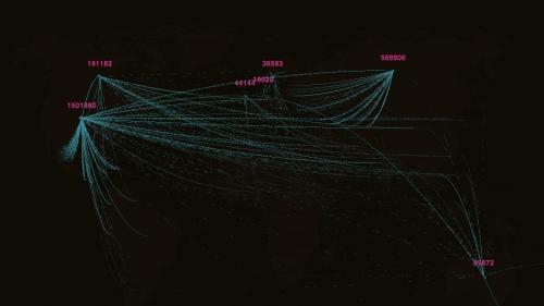 carte des flux migratoires