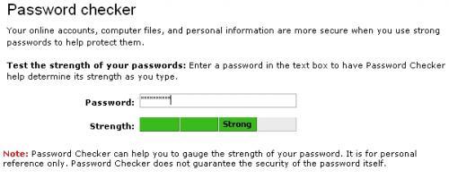 test mot de passe
