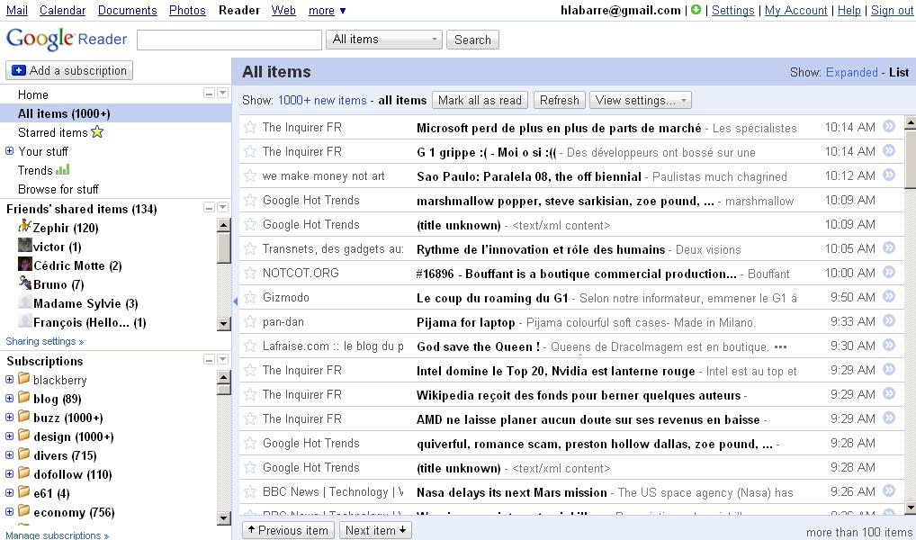 google-reader-newlook