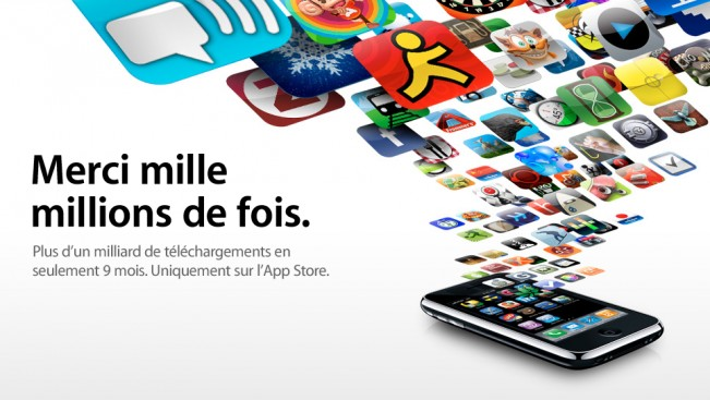 Page d'accueil d'Apple pour présenter cette information