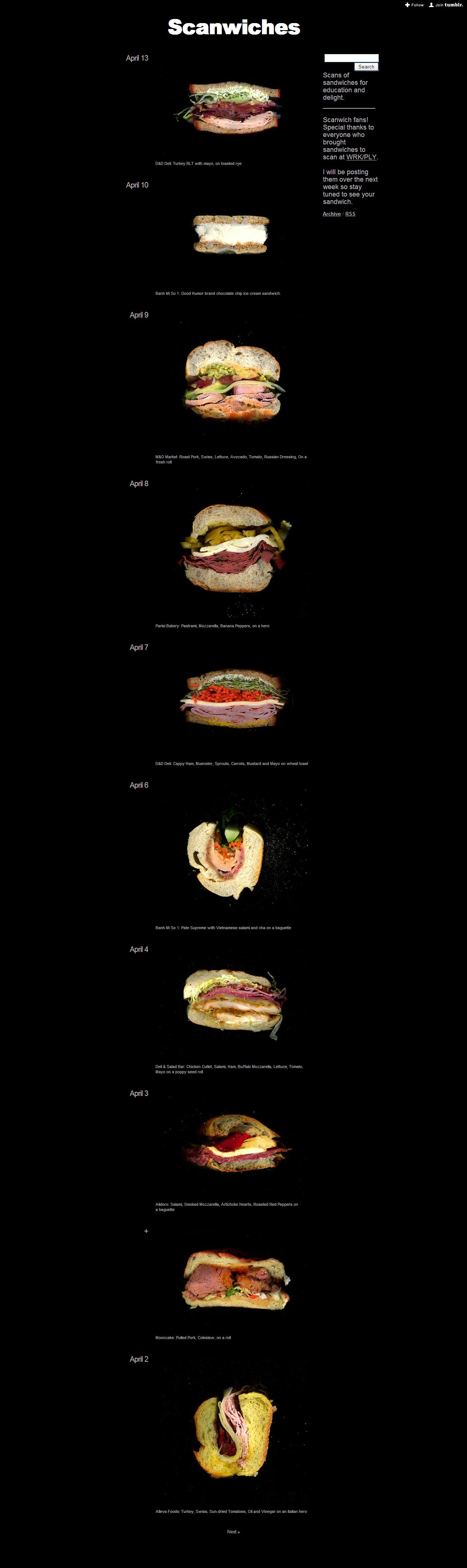 Une belle collection de sandwiches