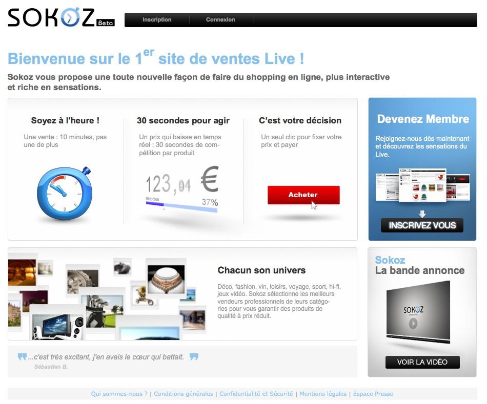 Homepage de Sokoz