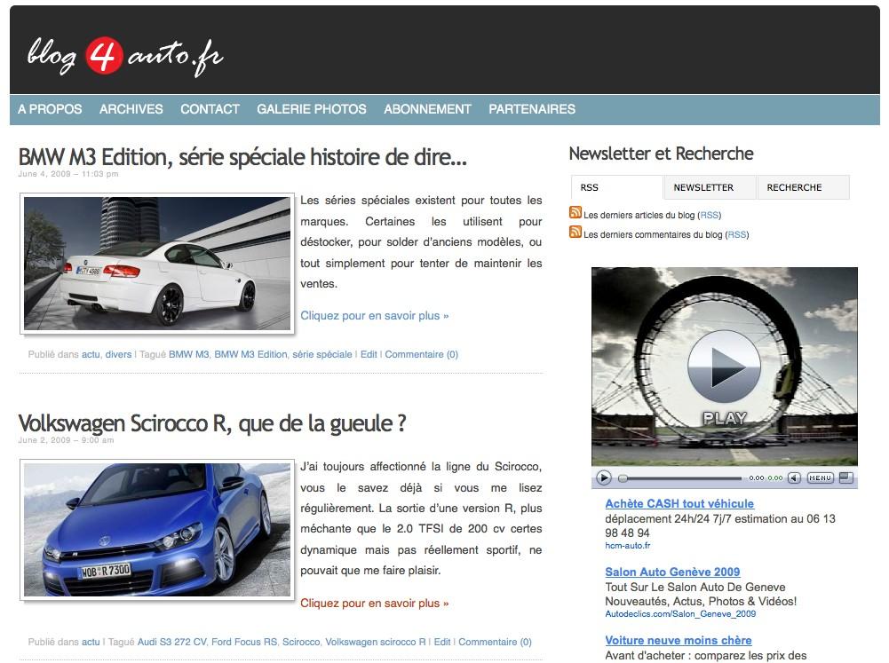 vignette sur la homepage de blog4auto.fr