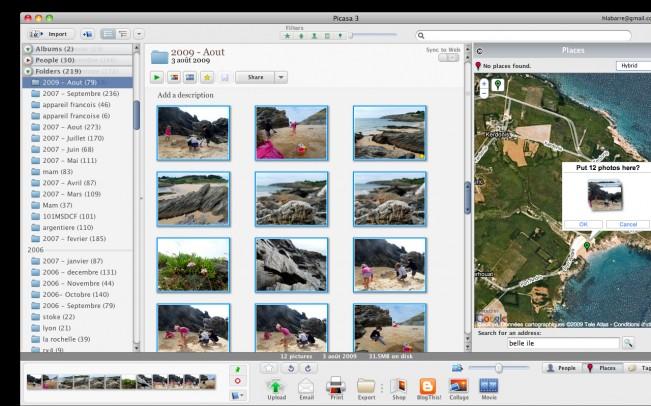 La localisation des photos dans Picasa