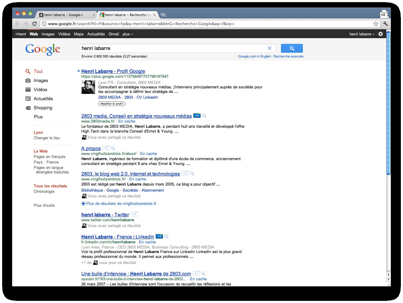 google-profil