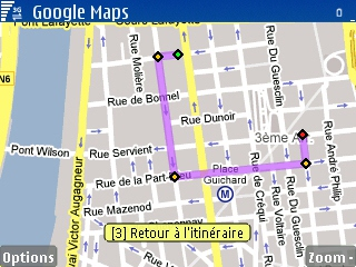 google map symbian