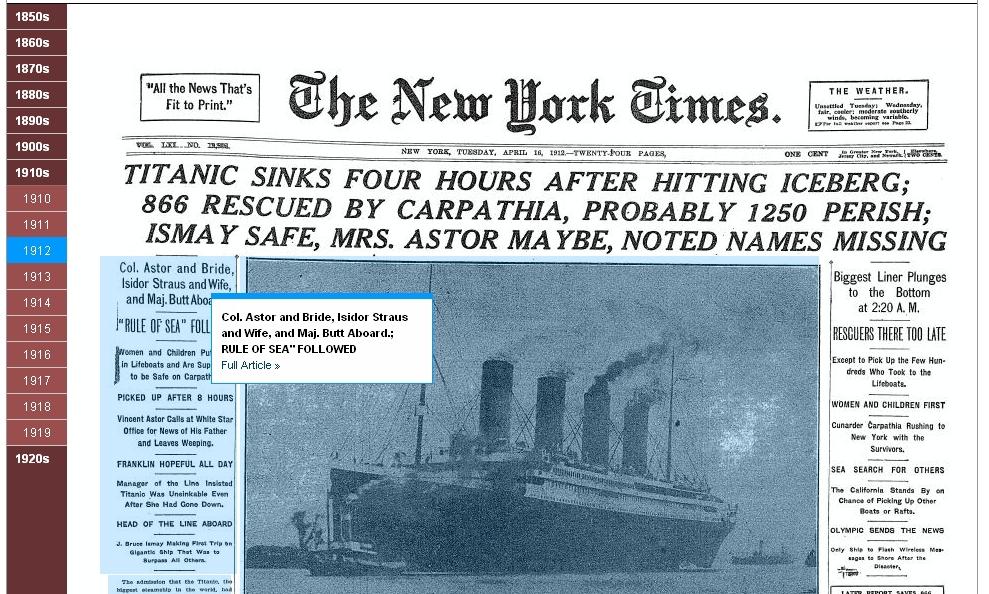 times machine titanic - 2803, le blog web 2.0, Internet et ...