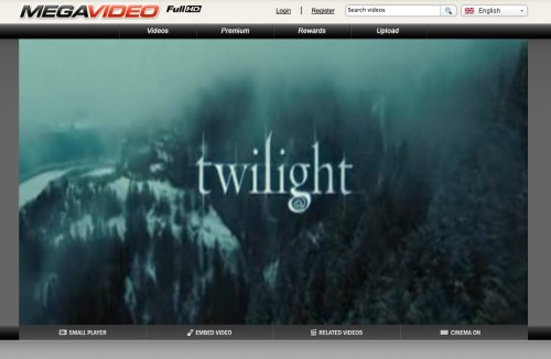 Twilight sur MegaVideo.com