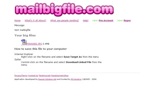 mailbigfile download