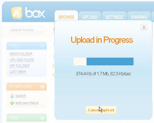 box upload